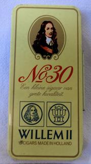 Lata De Cigarrillos Willem Ll N°30 10 Cigarros Holanda