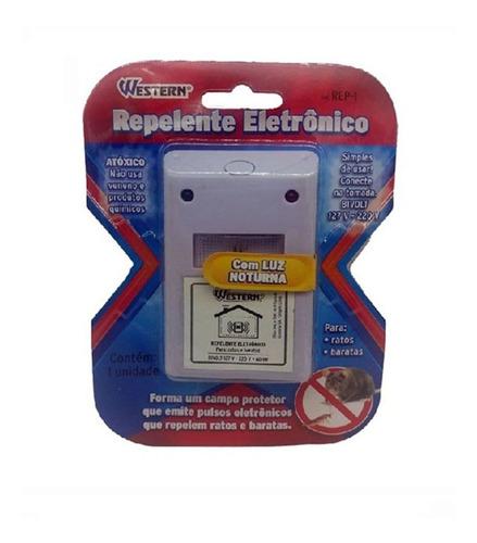 Repelente Eletrônico Barata Insetos Rato Ratazana Luz