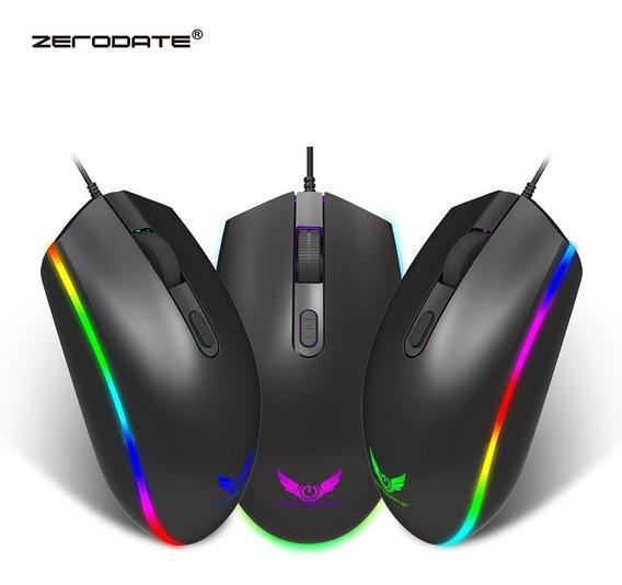 Zerodate S900 Computador Mouse 1600dpi Rgb Led