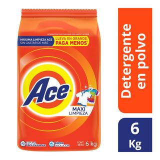 Detergente En Polvo Ace 6 Kg
