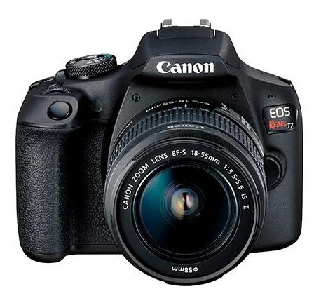 Câmera Digital Canon Eos Rebel T7 Com Lente + Lente