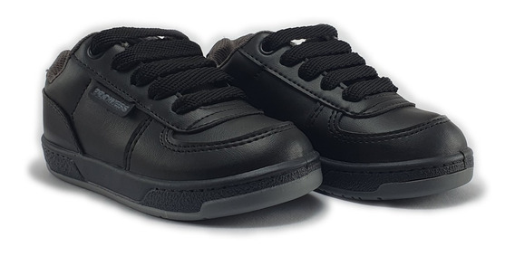 Zapatillas Deportivas Colegial Escolar Blanco Negro 23-35