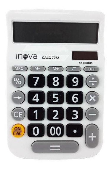 Calculadora Branca De Mesa Display Loja Desktop Branca