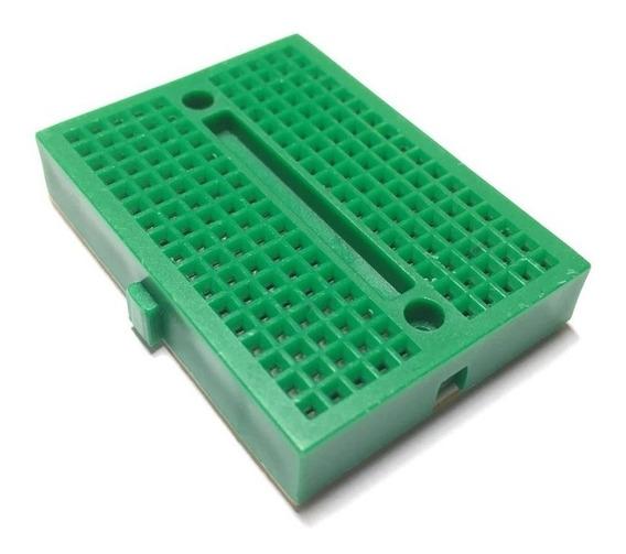 Mini Protoboard Breadboard 170 Pontos Furos Pinos Verde