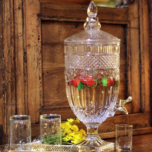 Suqueira Dispenser De Vidro 4 Litros Gourmet Vitrale