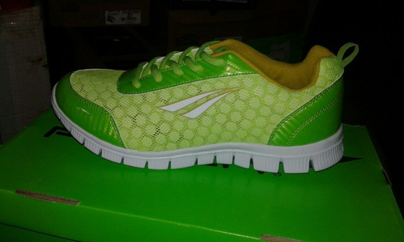 Zapatillas Penalty Modelo Mikonos Color Verde Y Turquesa