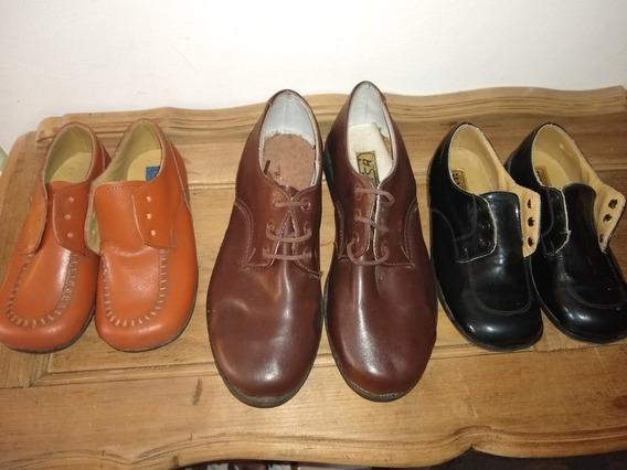 Lote De Zapatos De Cuero Originales Nuevos Antiguo Retro