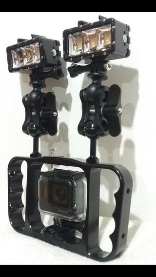 Braço Com Suporte Para Câmeras Gopro E Outras Câmeras De Ação E Lanternas- Bgning