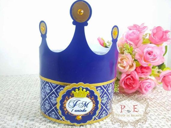 Caixa Coroa Principe Lembrancinhas Personalizadas 10 Unid