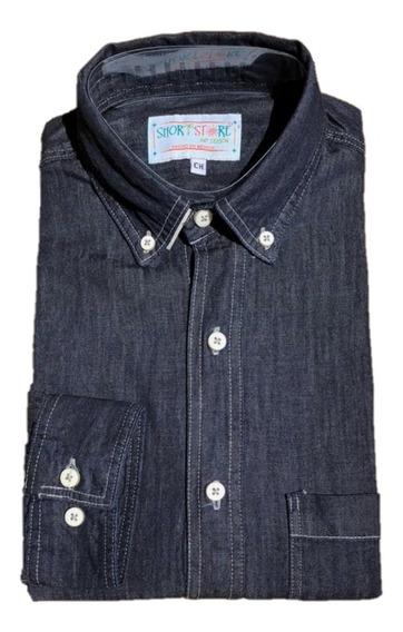 Oferta Camisa De Mezclilla Corte Slim Relaxed 3 Tonos