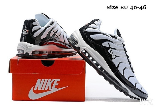 Nike Air Max 97 Plus de Hombres Negro Blanco