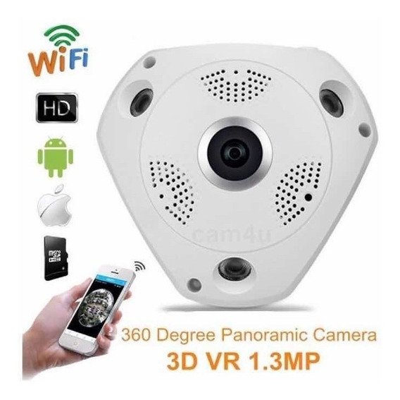 Câmera 360 Wifi Panorâmica Ip Frete Grátis