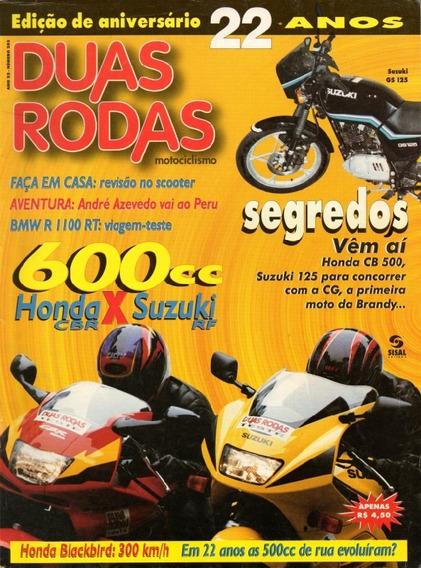 Duas Rodas N°253 Honda Cbr 600f Suzuki Rf 600r Bmw R1100rt