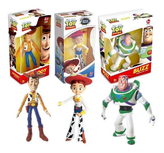 Coleção Toy Story Disney - Kit Com 3 Bonecos Lider