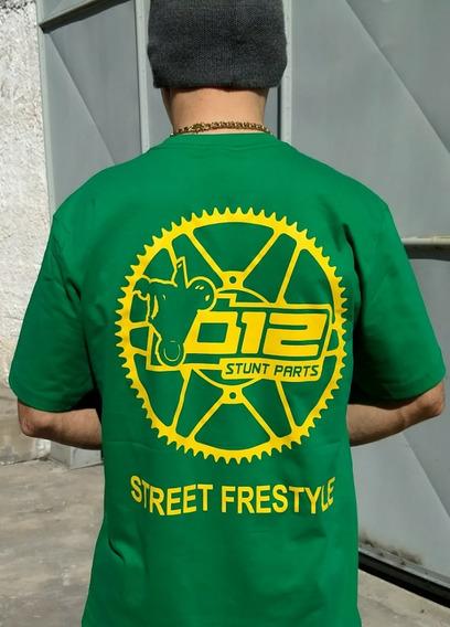 Camiseta 012 Stunt Parts Algodão Masculina Grau E Corte