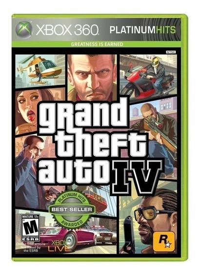Jogo Gta 4 Iv Xbox 360 E Xbox One Mídia Física Original Novo