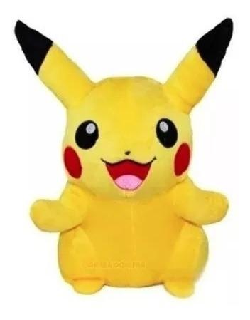 Boneco De Pelúcia Pikachu Pokemon Go Amarelo 18 Cm