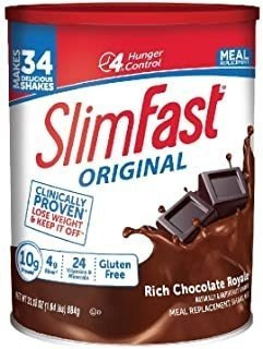 Slimfast Original Rich Chocolate Royale Meal Replacement Sha