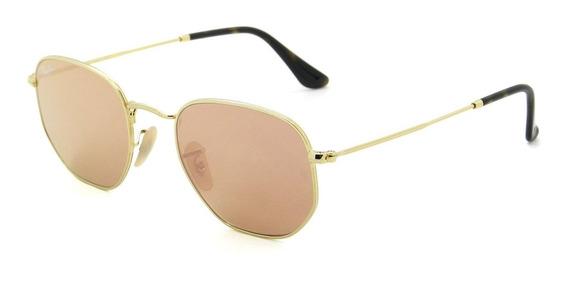 Óculos Ray Ban Rb3548nl 001/z2 54 Hexagonal - Lente 54mm