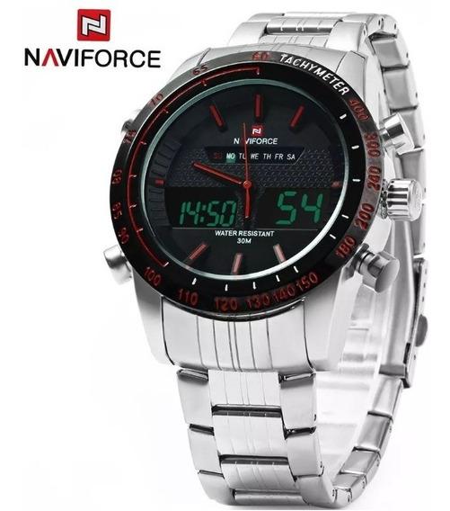 Relógio Naviforce Prata Racer Nf9024m Frete Grátis Promoção