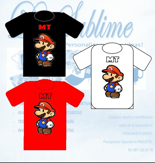 Mario Bros Camisa Personalizada
