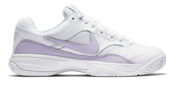 Tenis Nike Court Lite Blanco/morado Original 845048 105