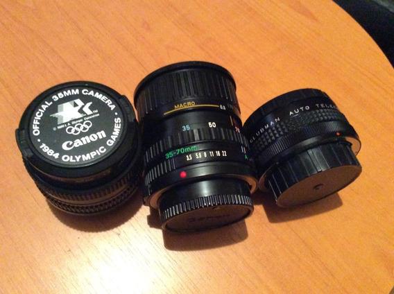 Lentes Canon Montura Fd (no Ef-s) 50mm 1.8 / 35-70mm