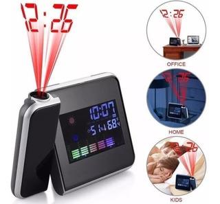 Reloj Despertador Digital Proyecta Hora En El Techo Laser