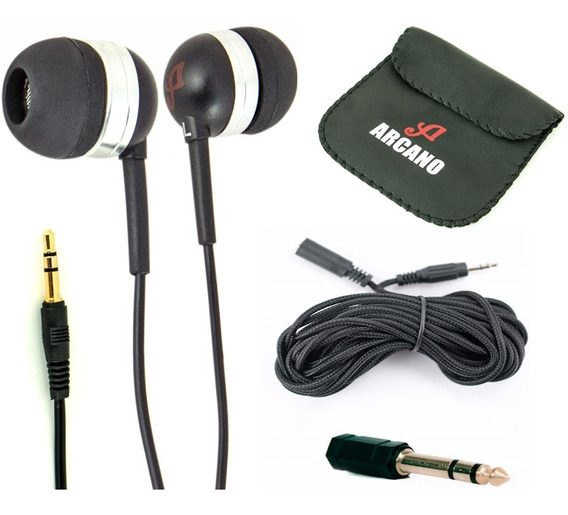 Kit Arcano 1 Fone Live-3 + 1 Cabo Extensor 5 Mts + Adp. P10