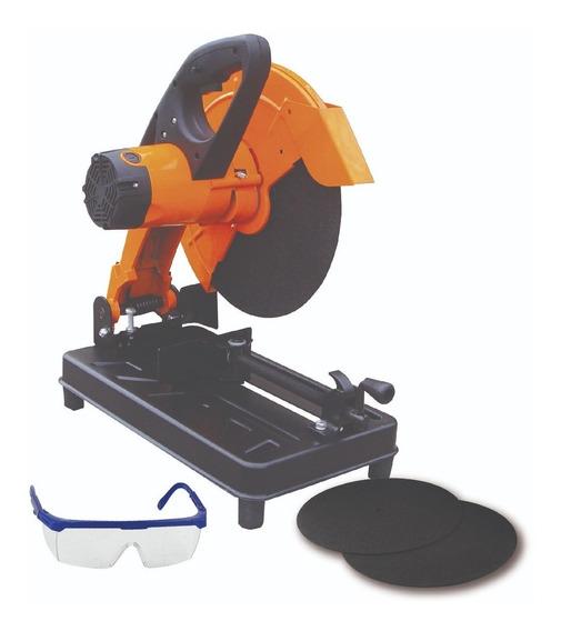 Sierra Cortadora Sensitiva 355mm + Kit Tres Discos Y Gaf Mm