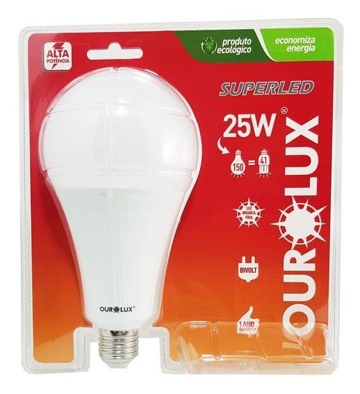 Lampada Led 25w E27 Ourolux Alta Potencia 6500k Superled