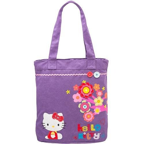 Bolsa Feminina Tote Bag Hello Kitty Fiesta C/ Zíper Pacific