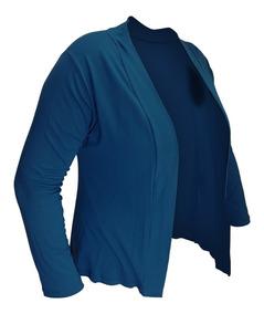 Blusa Cardigan Casaco Feminino Plus Size Viscolycra Ate G4