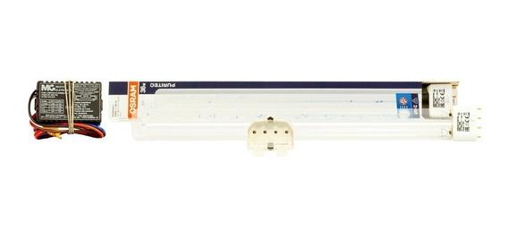Kit 95w Lâmpada Osram Uv Pl Germic+ Reator+ Soquete 4p Tampa Aquario