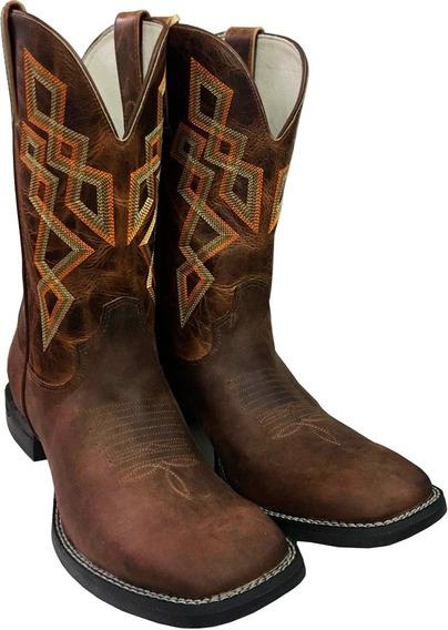 Bota Texana Goyazes Masculina Bico Quadrado
