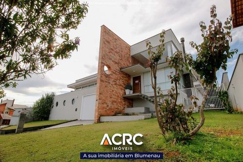Acrc Imóveis - Casa De Alto Padrão Em Condomínio Com 04 Suítes E Garagem Para 10 Carros. - Ca00642 - 32666297