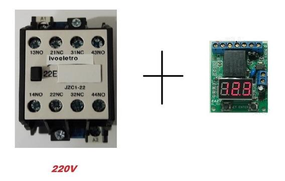 Contactor Tranf. Automátic. 220v 10a + Placa De Controle