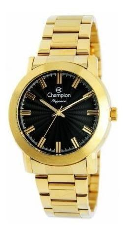 Relógio Champion Elegance Feminino Dourado Cn26617u
