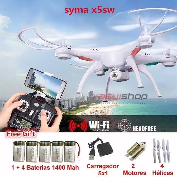 Drone Syma X5sw Original Câmera Fotos E Vídeos + 5 Baterias