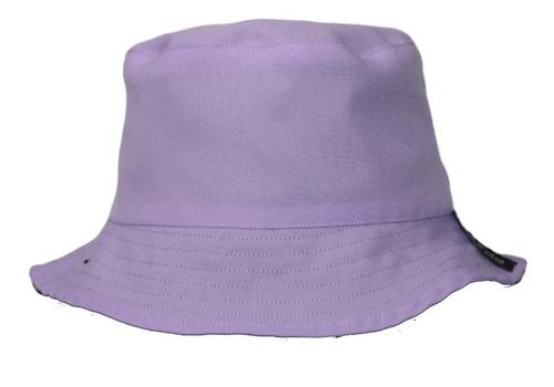 Imagen 1 de 2 de Bucket Hat De Niño Morado/negro.