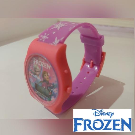 Relógio Infantil Menina Elsa Frozen Disney Rosa