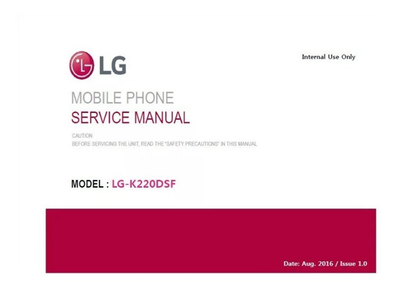 Esquema Elétrico (manual De Serviço) Lg K220