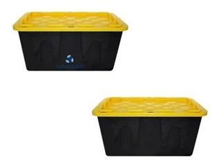Kit 2 Caja Plástico Almacenamiento Profesional 102lt +envio