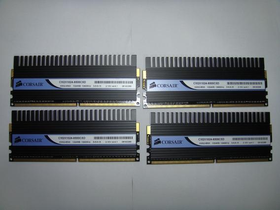 Memória Corsair Dominator Ddr2 1066mhz Xms2-8500 (4x1g)