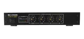 Mixer Stereo Cm-4 Cd/dvd, Aux, Mic E Toca Discos De Vinil