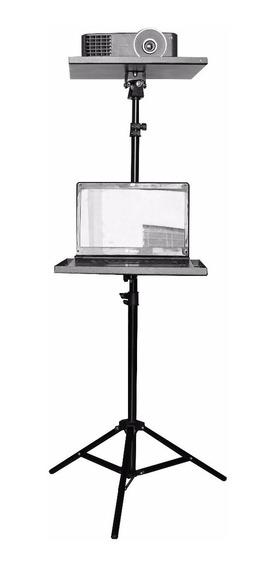Suporte Projetor Tripé Pedestal C/acessório Notebook + Bolsa