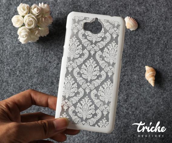 Funda Case Vintage Flores Mandala Dama Colores Huawei Y5 Pro