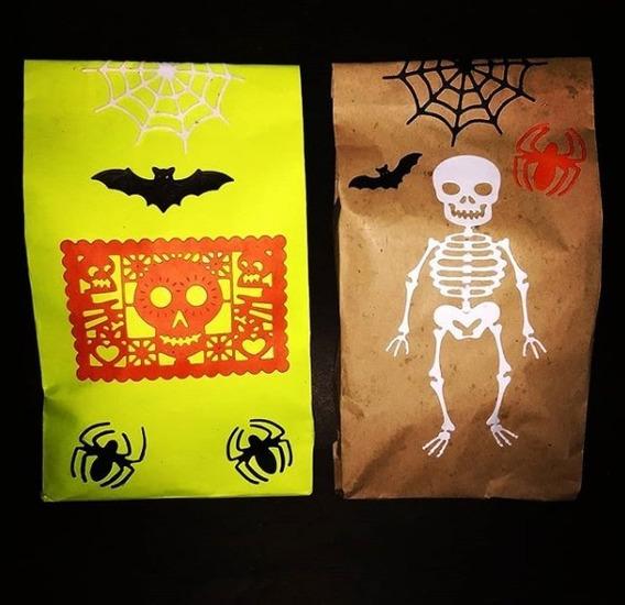 Bolsitas Pochocleras De Halloween Coco Pochoclos De Colores