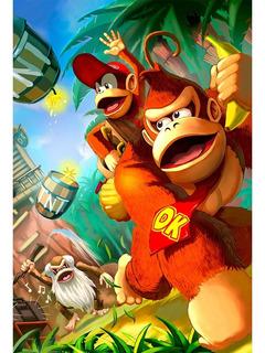 Placa - Quadro - Decorativo - Donkey Kong - Jogos - (v445)