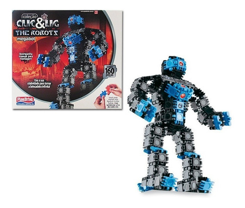 Imagem 1 de 1 de The Robots Megabot Clic & Lig Robô Para Montar Plasbrink